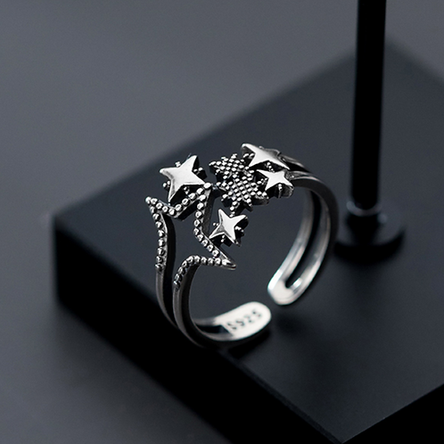 Sparkle Starry Star Ring - MOOII