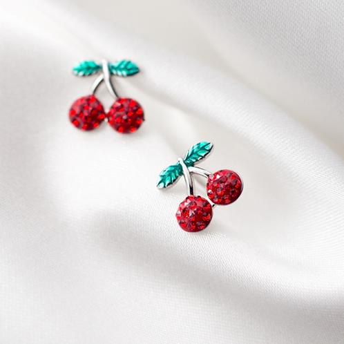 Cherry CZ  Ear Stud - MOOII