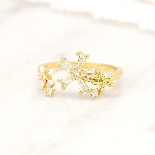Five Petals Flower Pinky Ring - MOOII