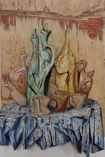 Bodegón I.Madera policromada.46x71 cm.jp