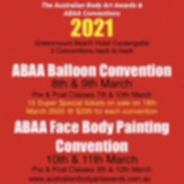 2021 ABAA Balloon and Face Convention 1s