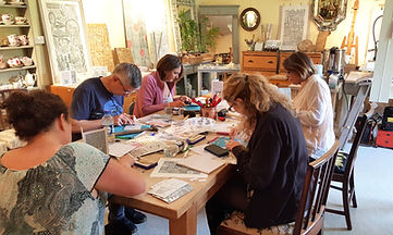 linocut printing workshop Oxford