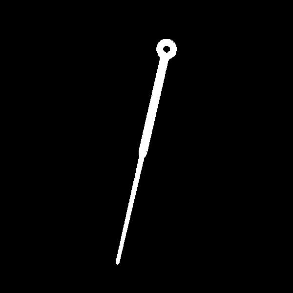 single acupuncture needle white