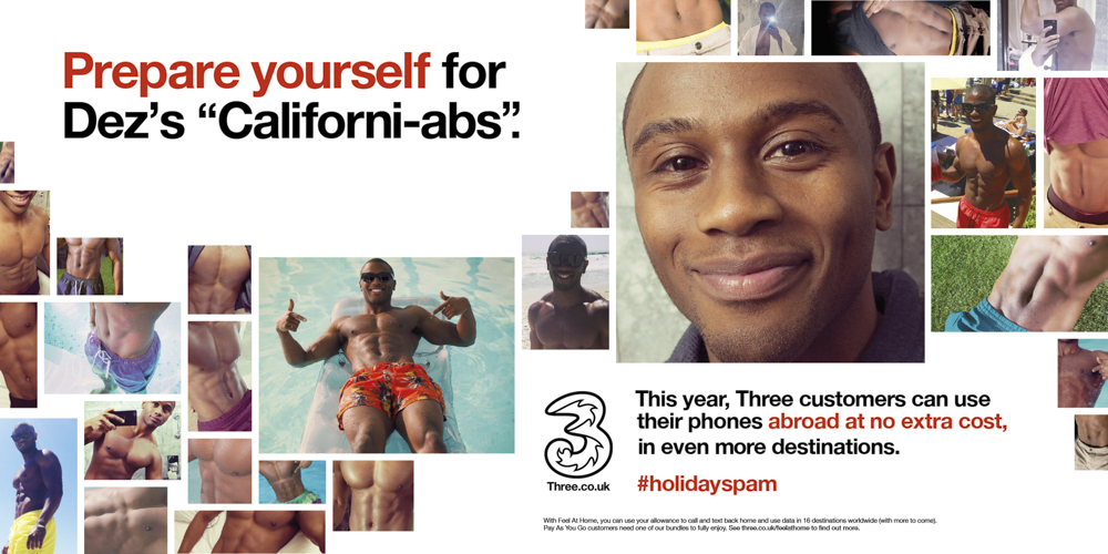 Three Mobile #HolidaySpam 48 sheets