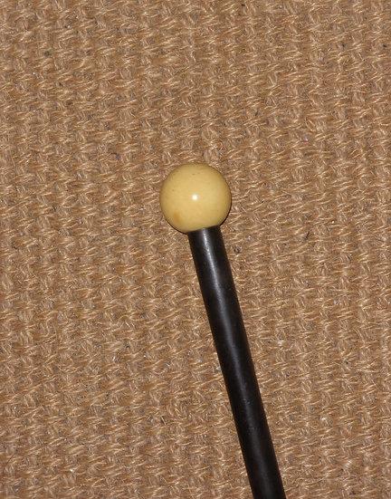 Antique Gents Ebony Billiard Inspired Ivory Walking Stick 84cm