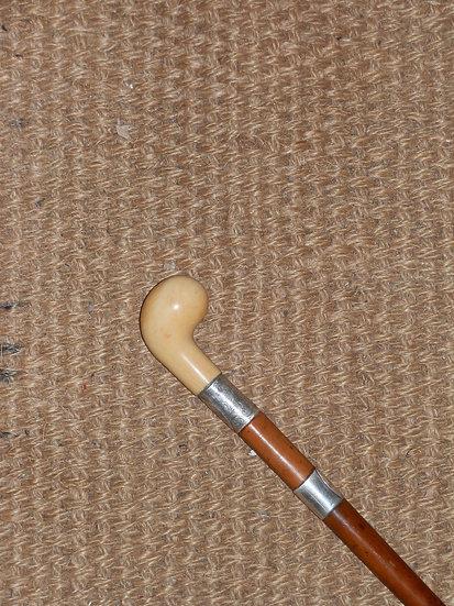 Antique Ivory Sunday Stick Hallmarked Silver - Birmingham 1914
