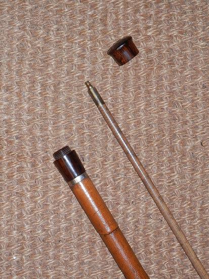 Antique Screw-Off Top Gadget Beer/Wine Measuring Walking Stick 93cm