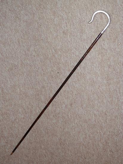 Antique Ladies Partridge Walking Stick - Silver Crook Handle H/m 1919 - G.S & Co