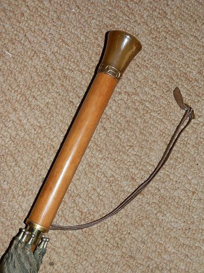 Vintage Umbrella Horn End Gold Detailing Collar & Leather Wrist Strap