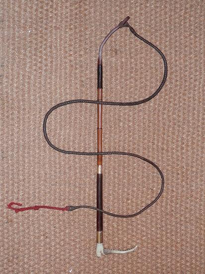 Antique Swaine Ladies Vida Barbra Norton Hunting Whip - 2 15Ct Gold Collars 1907
