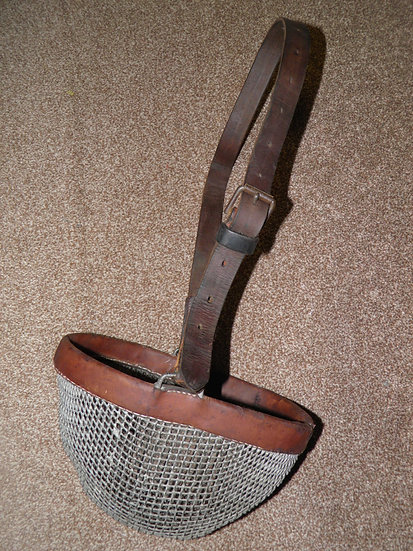 Antique Brown Leather & Wire Cob/Full Size Adjustable Horse Grazing Muzzle