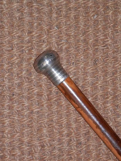 Antique Hallmarked Silver Top London 1901 Ernest Lory Walking Stick 91cm