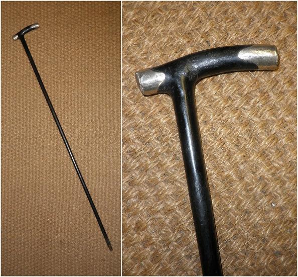Antique Hallmarked Silver Derby Walking Stick/ Cane 92.5cm