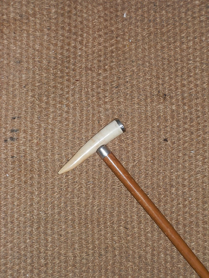 Antique Ivory Hallmarked Silver Walking Cane