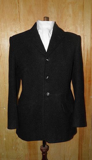 "Vtg Gents Bradbury & Barnes Black Hunt Coat Vale Of White Horse Hunt Buttons 40"""