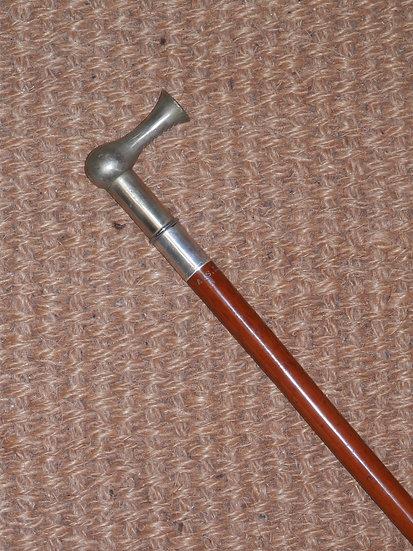 Antique 'Ashford Maker To The Queen' H/m Silver B'ham 1894 Hammerhead Whip A.S.R