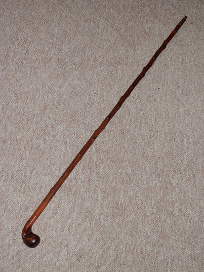 Antique Small Holly Golfer's Sabbath Sunday Putter Club/Walking Stick - 85.5cm