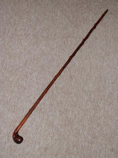 Antique Small Holly Golfer's Sabbath Sunday Putter Club/Walking Stick - 85.5cm
