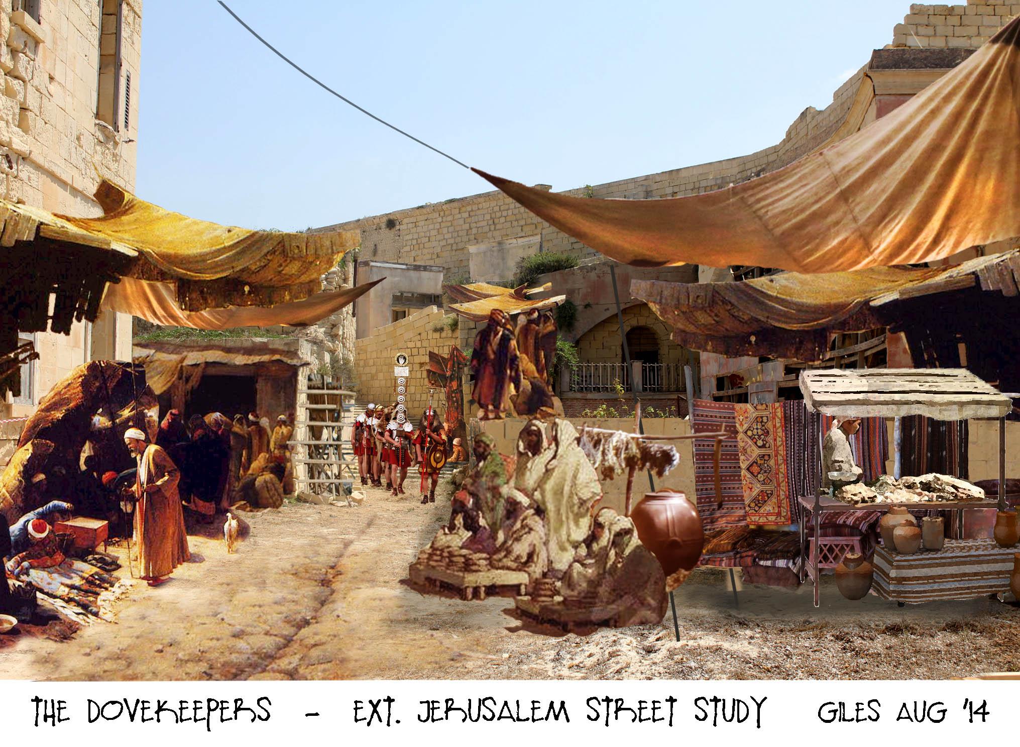 Jerusalem street sketch