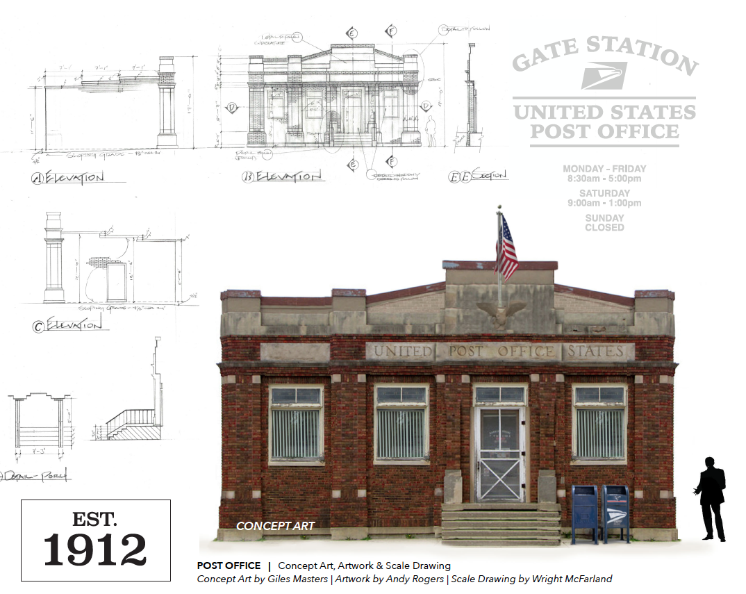 Post Office set designs