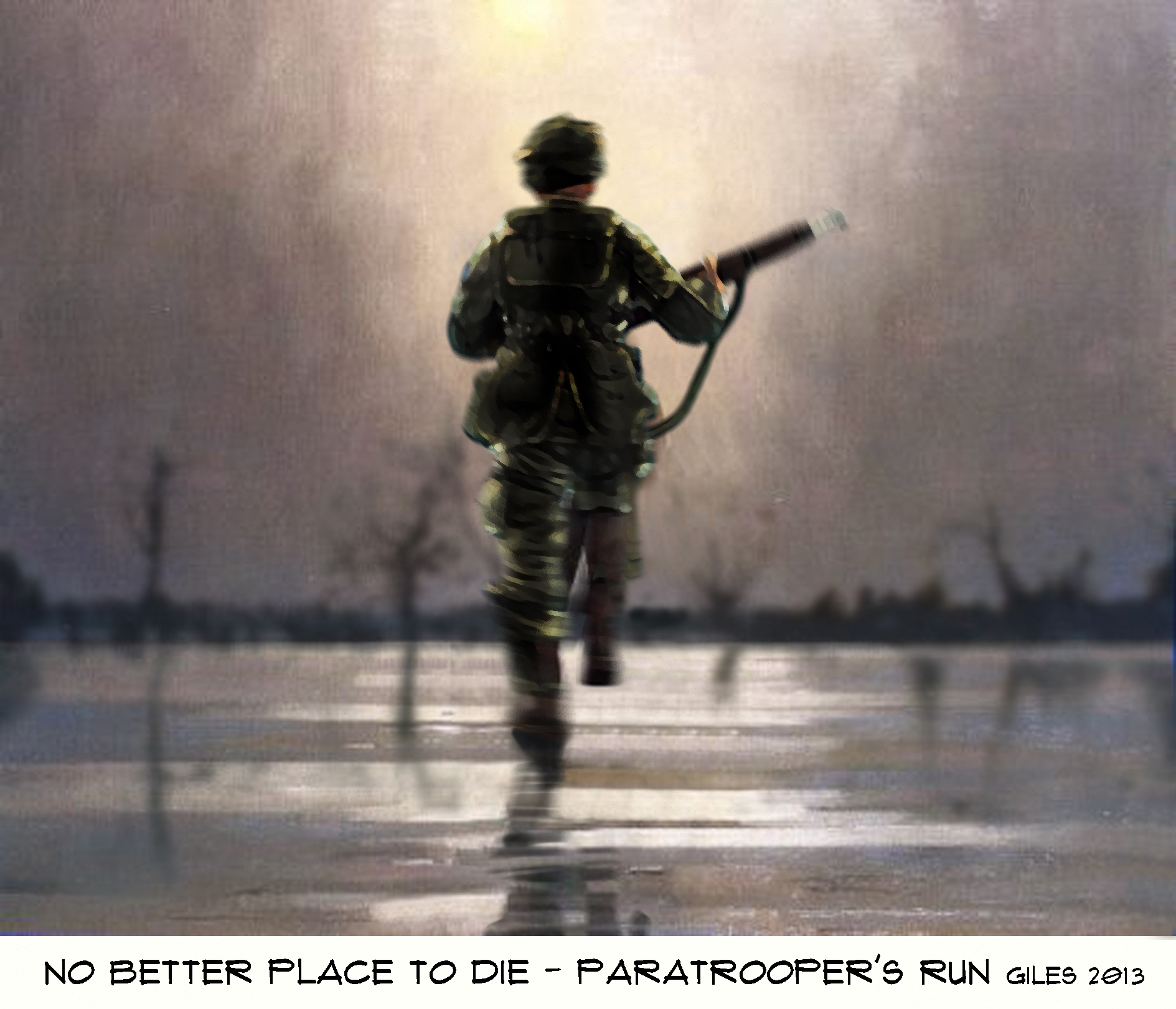 Paratrooper's run painting by Giles