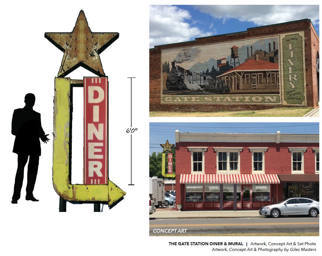 Ext. Diner & Mural