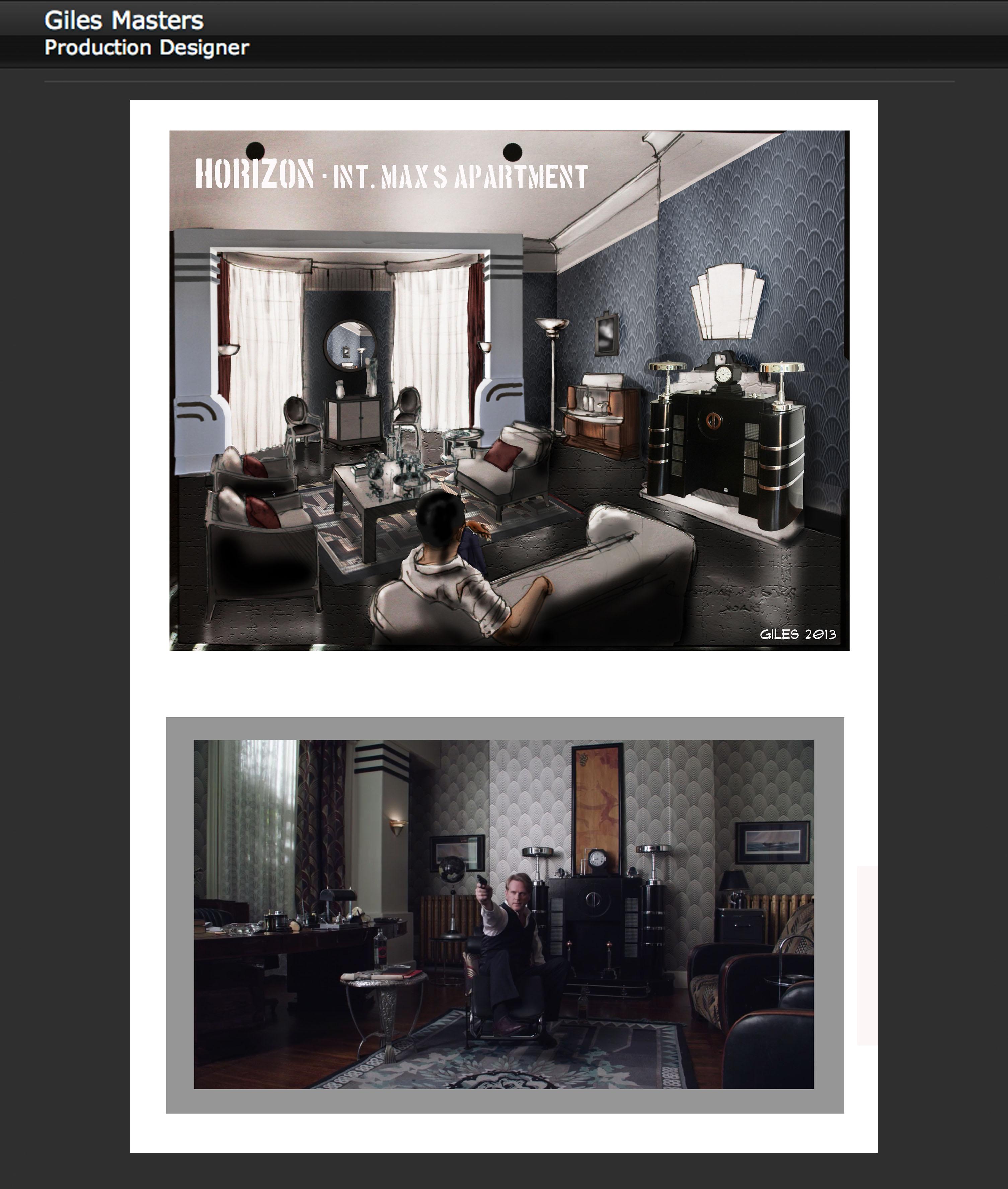 Int. Deco Room, Concept & Final Set