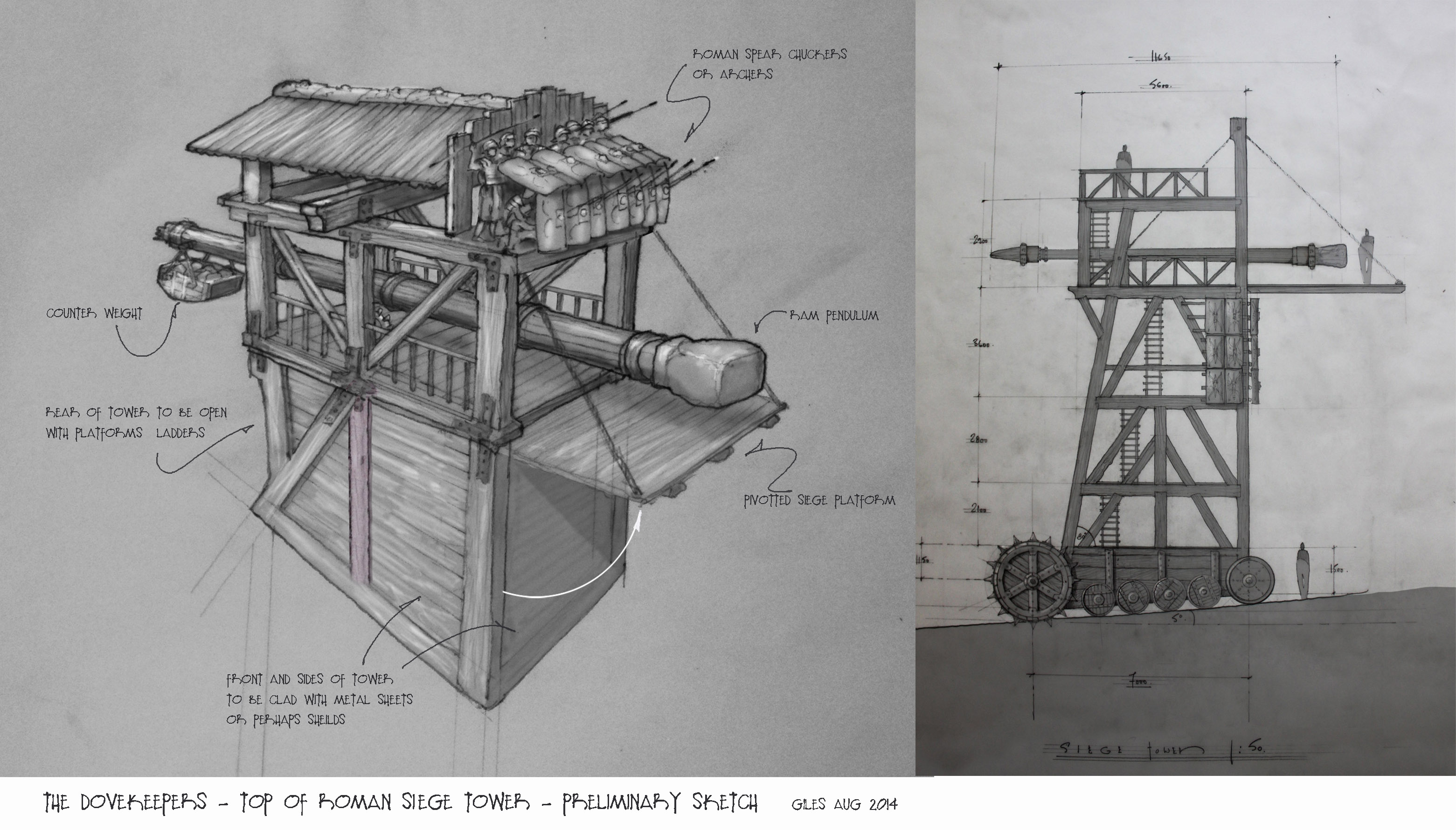 Siege Tower sketches