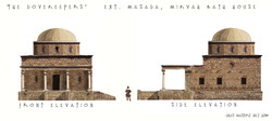 Bathhouse elevations