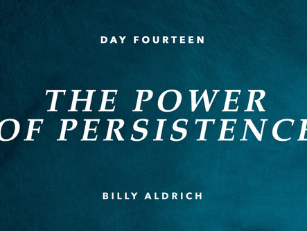 DAY FOURTEEN: THE POWER OF PERSISTENCE