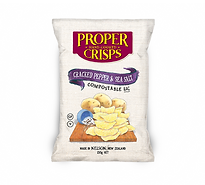 Cracked Pepper & Sea Salt Potato Crisps