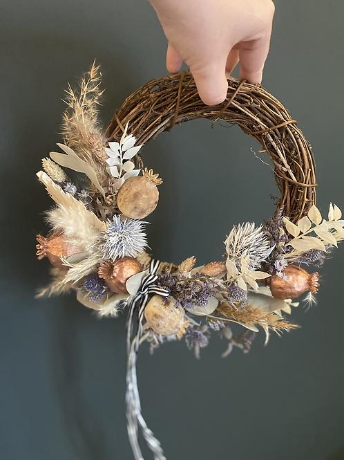 Small dried flower hoop