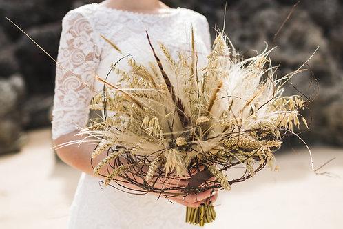 Dried Wedding Bouquet - Neutrals