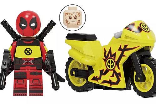 Mr D on his bike - yellow