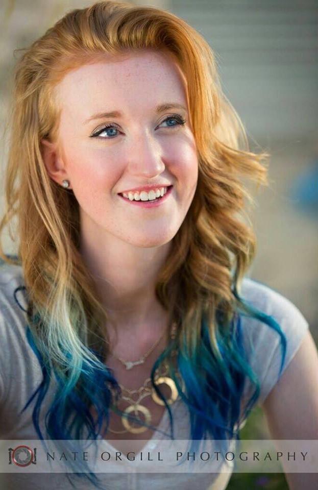 Blue hair, red hair, provo hair salon, hair salon, utah, E.P. Studio