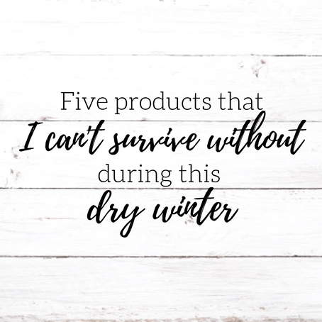 Five Products I CAN NOT live without during this dry winter