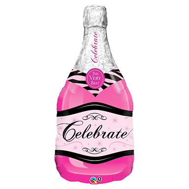 Pink Celebrate Bottle Supershape