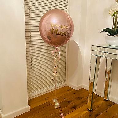 Love You Mum Orbz Balloon Helium Filled