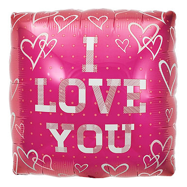 I Love You 18 inch square foil balloon