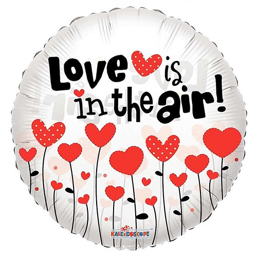 Love Is In The Air 18 inch Foil Balloon