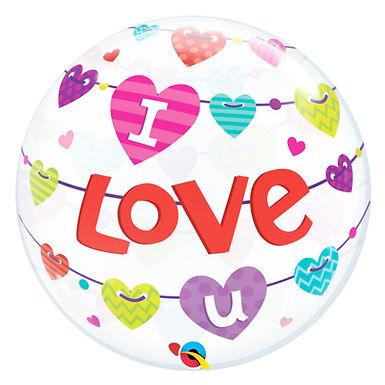 I Love You Hearts Bubble Balloon