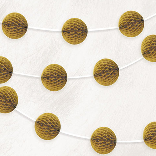 Gold Honeycomb Garland
