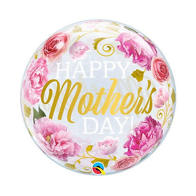 Happy Mother's Day Flower Bubble Balloon