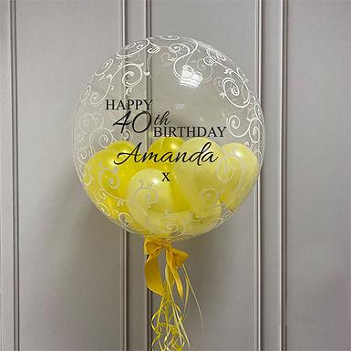 Swirls Gumball Bubble Balloon