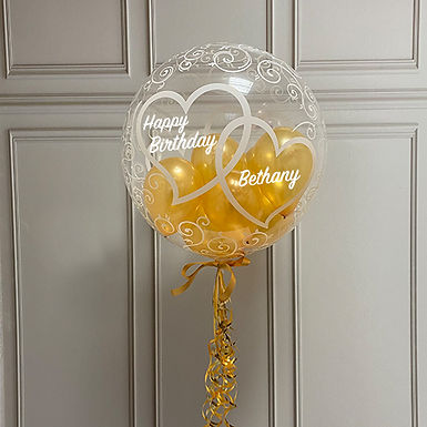 Entwined Hearts Gumball Bubble Balloon