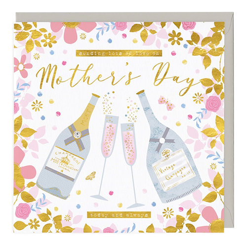 Mothers Day Champagne Card