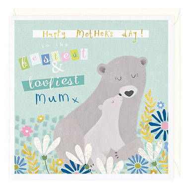 Happy Mother's Day Mummy Bear Card