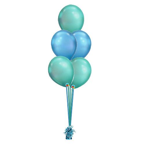 Chrome 5 Balloon Bouquet
