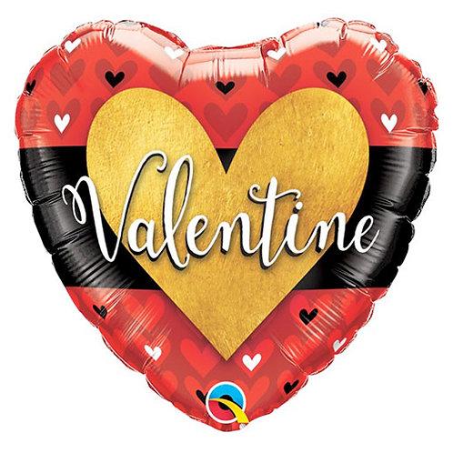 Valentine 18 inch Heart Foil Balloon