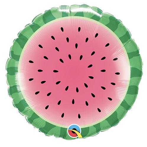 "Sliced Watermelon 18"" Foil Balloon Helium Filled"